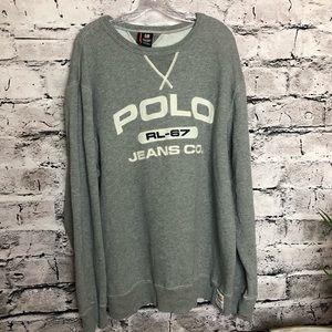 VINTAGE 1990's Polo Jeans Mens Sweatshirt. 2XLT